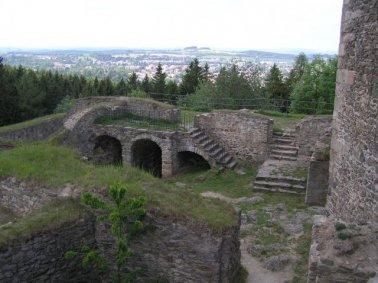 Pohled z hradu Orlíka na Humpolec
