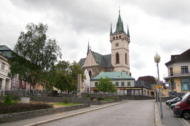 Dolní náměstí v Humpolci