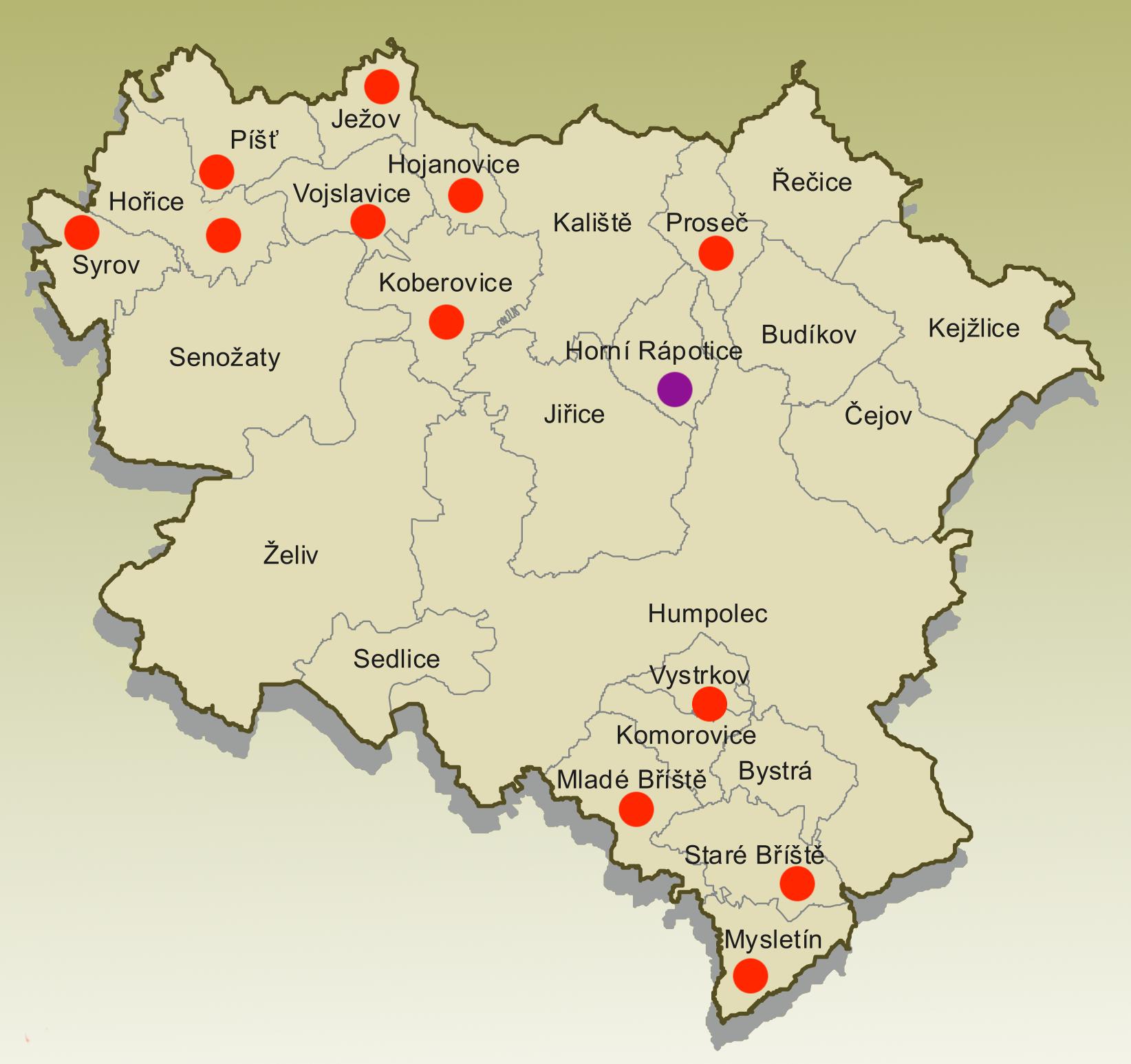 Znaky 14 obcí Humpolecka pohledem žáků ZŠ